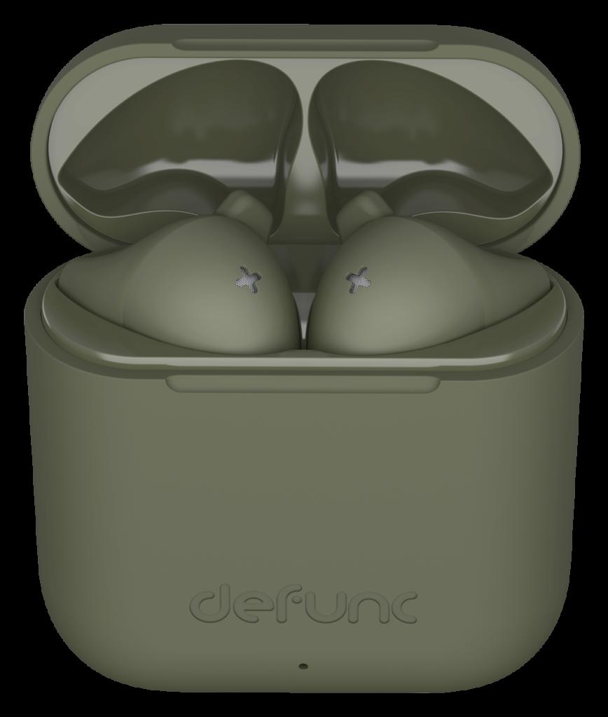 słuchawki bezprzewodowe zielone defunc go slim
