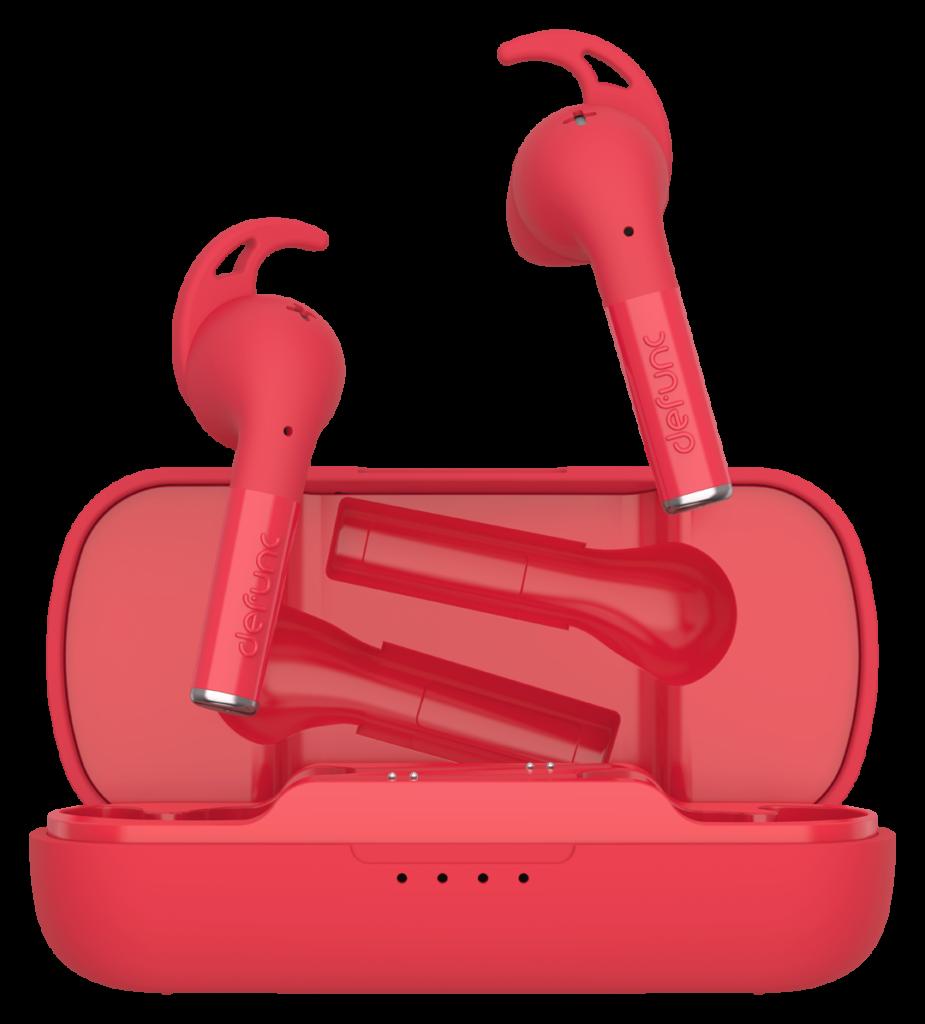 słuchawki czerwone defunc